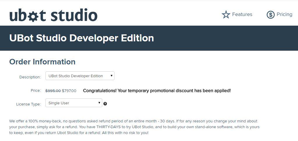 Ubot Studio Coupon Code Get 20% Off Developer's Edition